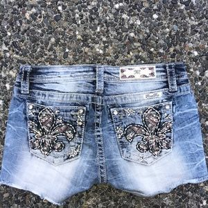 Light wash Miss Me shorts from Buckle
